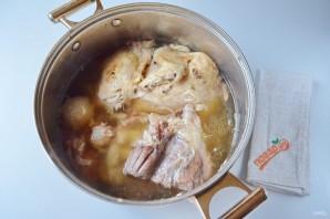 Домашний холодец из говядины и курицы - фото шаг 6