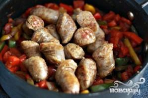 Колбаса с болгарским перцем и луком - фото шаг 6