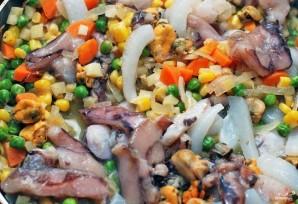 Тушеные морепродукты - фото шаг 4