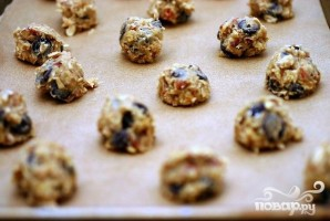 Овсяное печенье с орехами и шоколадом - фото шаг 2