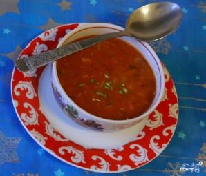 Томатный суп с фасолью - фото шаг 7