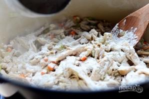 Пирог в горшочке с курицей и овощами - фото шаг 3
