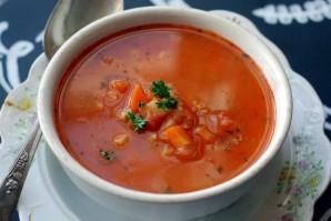 Суп с овощами и ячменем - фото шаг 12