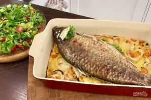 Ужин на всю семью (рыба с салатом) - фото шаг 6