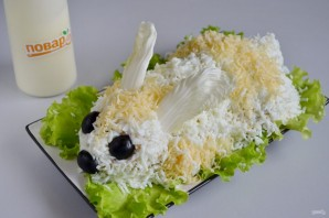 Пасхальный салат из курицы - фото шаг 9