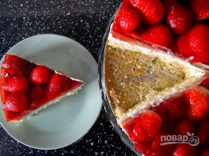 Сметанный торт с клубникой - фото шаг 9