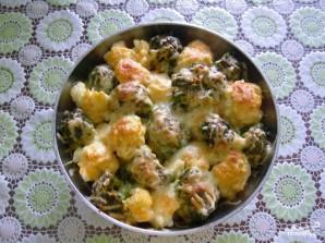 Цветная капуста с брокколи запеченная с сыром - фото шаг 4