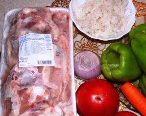 Перец на зиму, фаршированный мясом - фото шаг 1