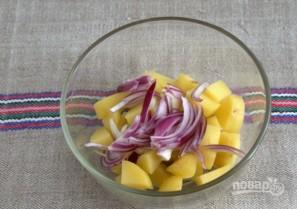 Картофельный салат с квашеной капустой - фото шаг 3