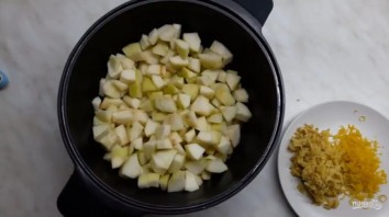 Конфитюр из груш с лимоном, имбирем и розмарином - фото шаг 2