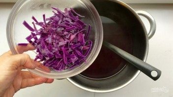 Суп-пюре из краснокочанной капусты - фото шаг 4