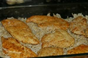 Запеканка с курицей, рисом и грибами - фото шаг 1