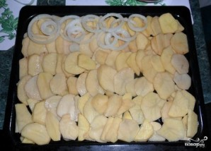 Опята с картошкой в духовке - фото шаг 5