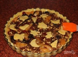 Рождественский пирог с сухофруктами и орехами - фото шаг 14