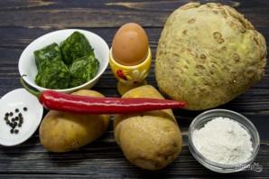 Картофельные ньокки со шпинатом и укропом - фото шаг 1