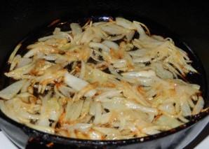 Салат с печенью и грибами - фото шаг 3