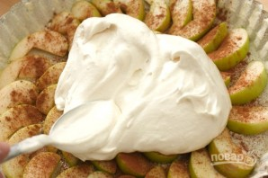 Шарлотка с яблоками в духовке - фото шаг 5