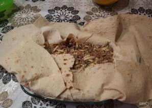 Яично-мясной тортик со вкусом шавермы - фото шаг 13
