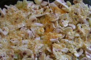 Цветная капуста с грибами в духовке - фото шаг 5