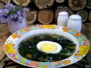 Суп из крапивы с яйцом - фото шаг 6