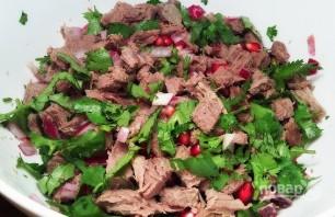 Салат с гранатом и говядиной - фото шаг 8