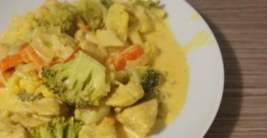 Кусочки курицы с овощами - фото шаг 4