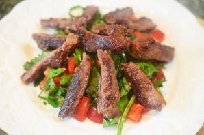Теплый салат из говядины - фото шаг 8
