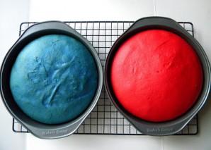 """Торт """"Капитан Америка"""" - фото шаг 2"""