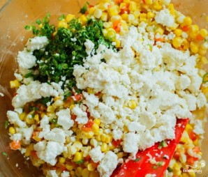 Мексиканский салат с кукурузой - фото шаг 4