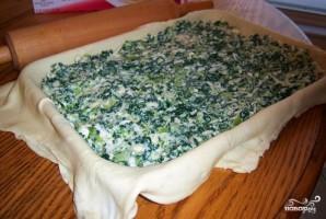 Слоеный пирог с брокколи - фото шаг 4