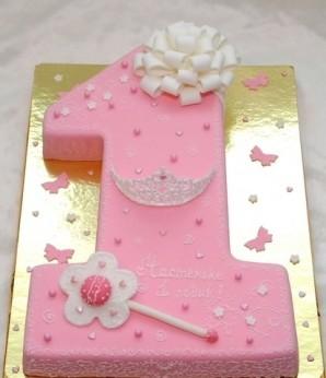 "Торт ""Единичка для девочки"" - фото шаг 13"