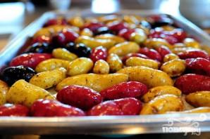 Жареный лосось с картофелем, спаржей и каперсами - фото шаг 2