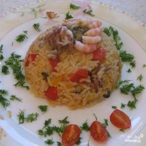 Рис с морепродуктами в мультиварке - фото шаг 9