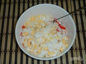 Салат из кальмаров с икрой - фото шаг 5
