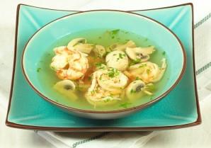 Тайский суп с креветками - фото шаг 6