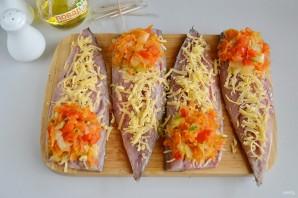 Рулеты из скумбрии с сыром и овощами - фото шаг 6