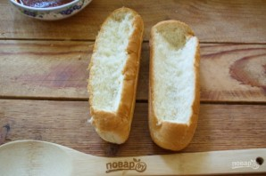 Хот-доги в булочках (лесенкой) - фото шаг 2