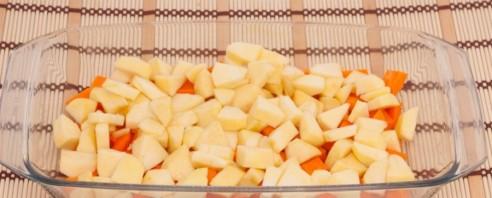Запеченная тыква с яблоками - фото шаг 5