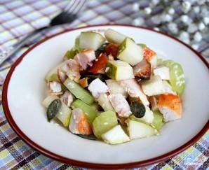 Салат с грушей и курицей - фото шаг 8