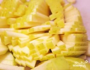 Салат с яблоками и ветчиной - фото шаг 2
