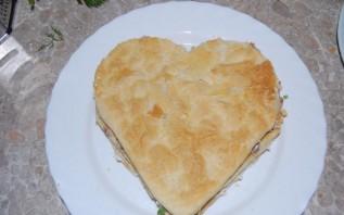 Закусочный торт из слоеного теста - фото шаг 8