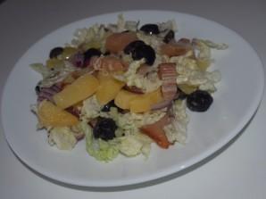 Салат с копчёной рыбой - фото шаг 3
