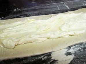 Творожный пирог из слоеного теста - фото шаг 2