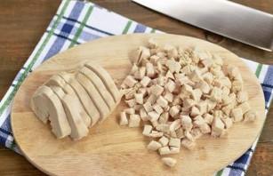 Фасолевый салат с курицей - фото шаг 4