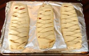 Пирог с вишней из дрожжевого теста - фото шаг 10