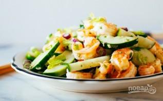 Салат из креветок с огурцом - фото шаг 4