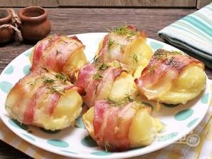 Картофель с беконом, запеченный в духовке - фото шаг 7