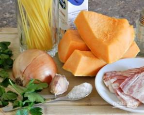 Спагетти в тыквенном соусе с беконом - фото шаг 1