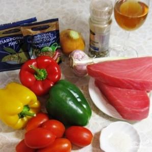 Тунец под соусом из болгарских перцев - фото шаг 1