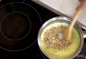 Яблочный пирог с сахарно-ореховой глазурью - фото шаг 4